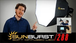 Softbox, Umbrella LED Light kit for photo & video: Digital Juice SunBurst 288