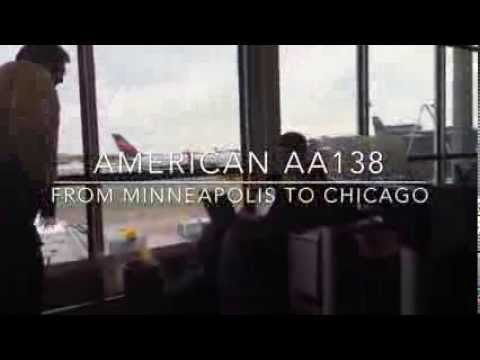 (4) Mini flight report American Airlines flight AA138 from Minneapolis/Saint Paul to Chicago O'Hare