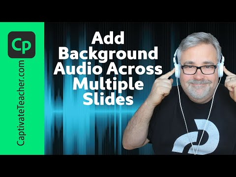 Adobe Captivate QuickTip - Add Background Audio Across Many Slides
