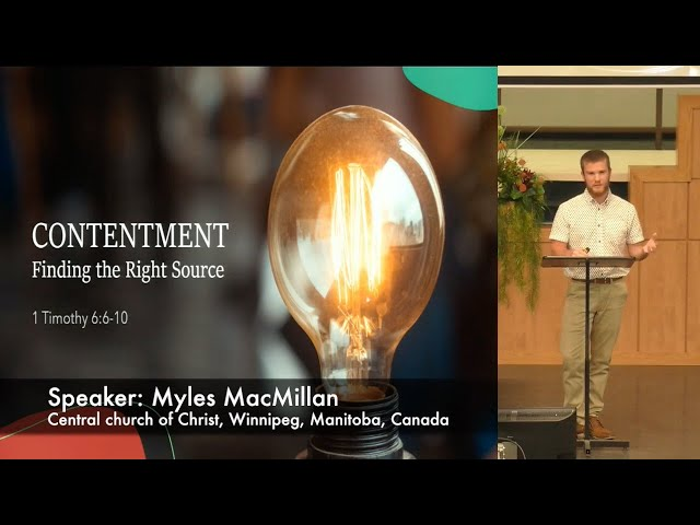 September 20, 2020 - Contentment: Finding the Right Source