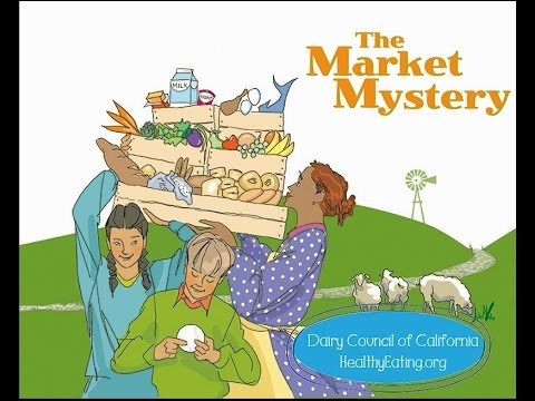 Read Aloud Book: The Market Mystery ~ Where Food Comes From, a Read Along Book for Kids