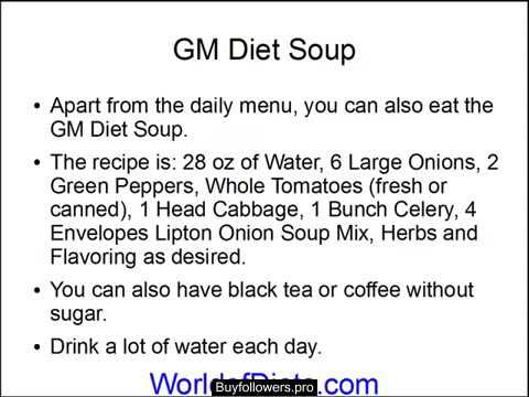 GM Diet Reviews - General Motors Diet Recipe