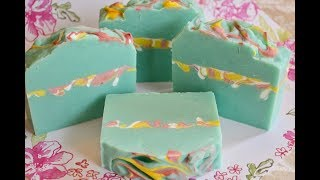 BUTTERFLY GARDEN~ Making & Cutting Cold Process Soap