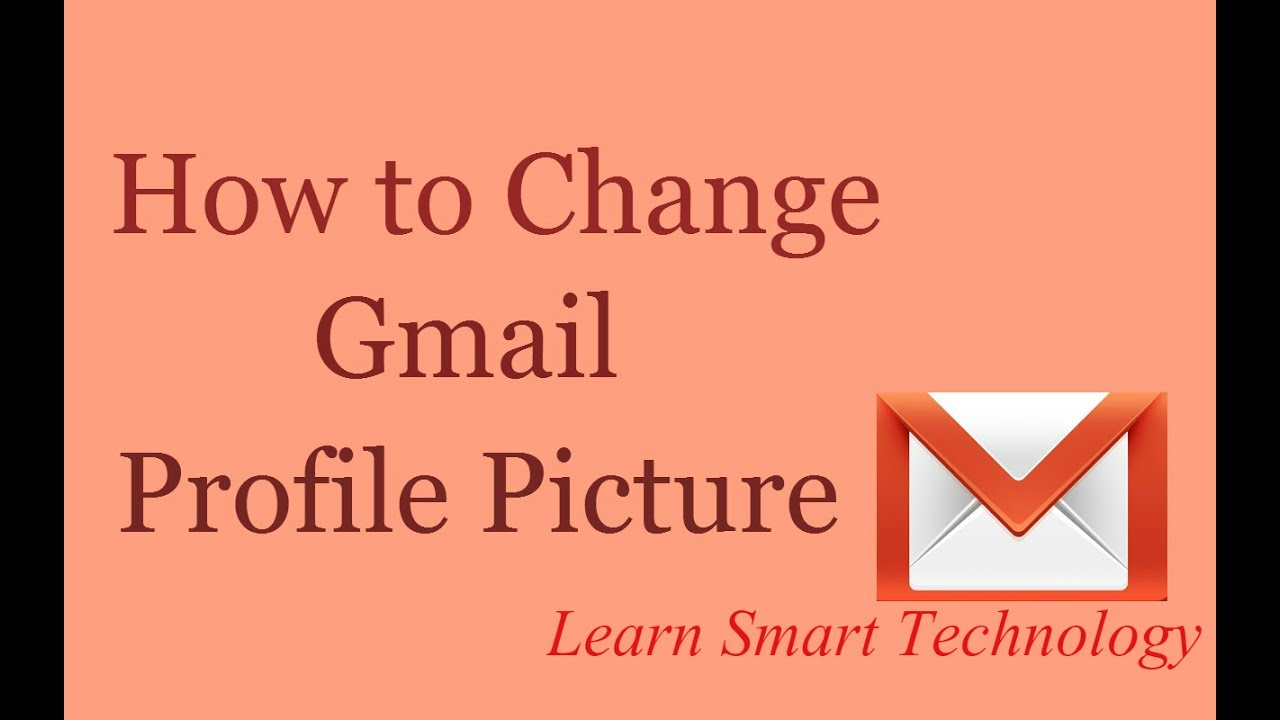 How to Change Gmail/Email Profile Picture - YouTube
