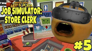 Annoying Orange Plays - Job Simulator #5: STORE CLERK