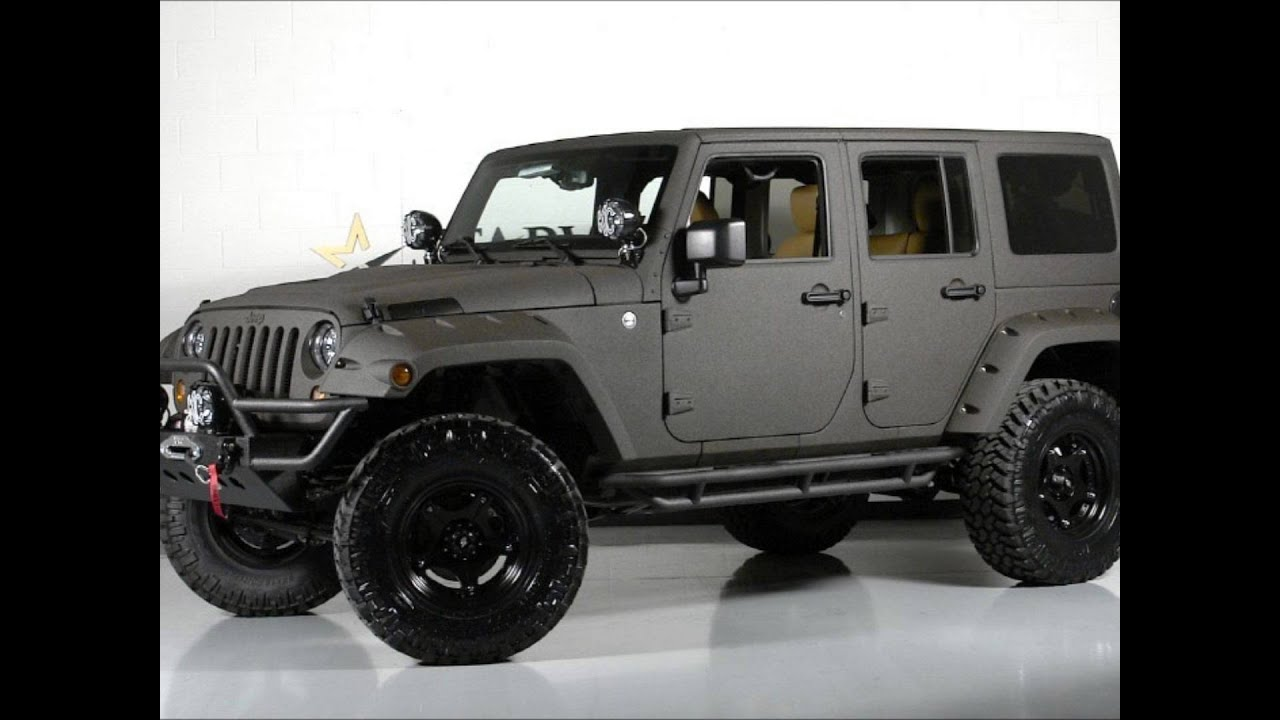 Lifted Jeeps For Sale >> 2013 Kevlar Jeep Wrangler Unlimited Lifted Custom Seating - YouTube