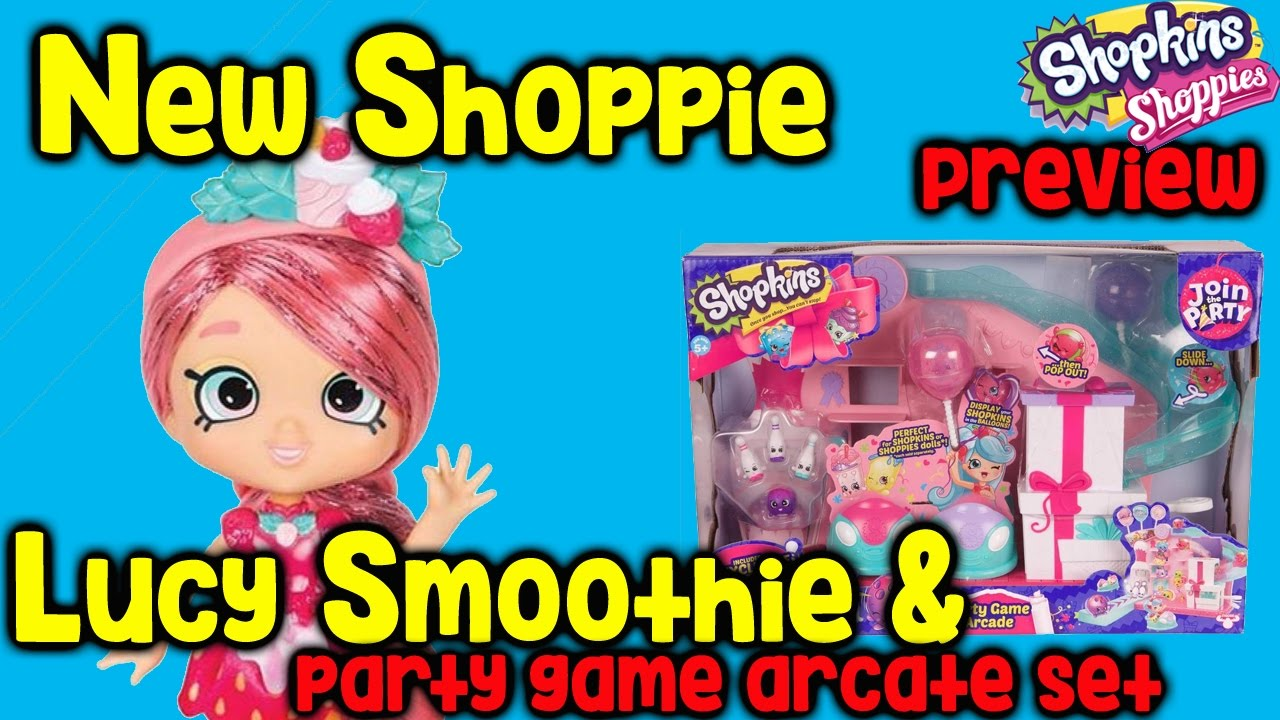 Shopkins Season 7 Lucy Smoothie Shoppie and Party Game
