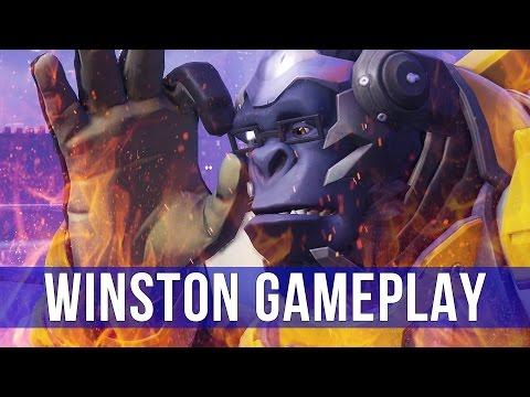 Overwatch: Winston is on Fire! (Winston Gameplay)