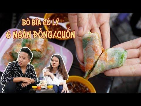 Cùng Lan Anh FapTV ăn BÒ BÍA CÔ LÝ  – 6k/cuốn, nức tiếng quận 1 | 360 ĐỘ NGON