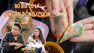 Cùng Lan Anh FapTV ăn BÒ BÍA CÔ LÝ  - 6k/cuốn, nức tiếng quận 1 | 360 ĐỘ NGON