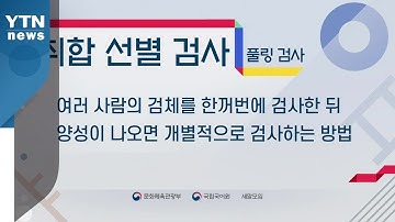 풀링 검사→취합 선별 검사,  윈도 스루 검진→투명창 검진 / YTN