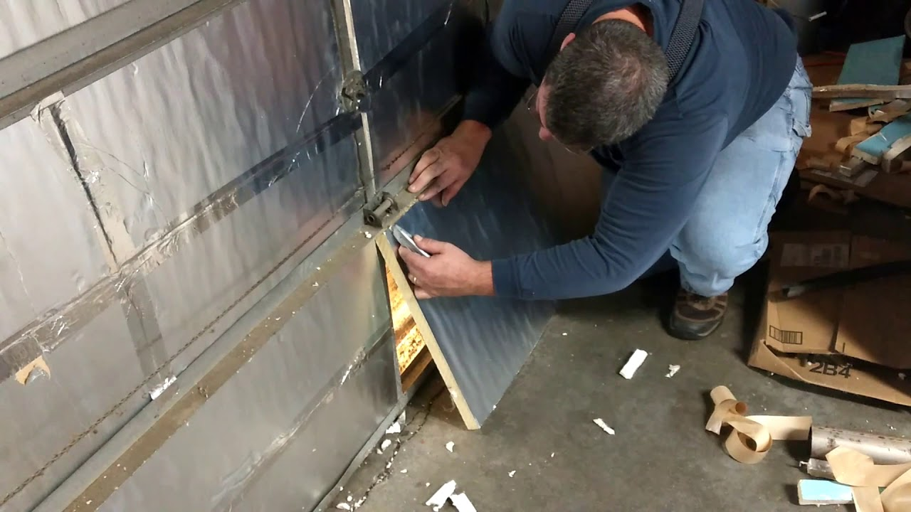 Insulating The 50 Year Old Fibergl Garage Door 1 Rigid Insulation