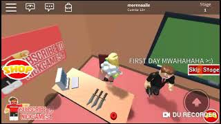 My first roblox video playing with my friend :v