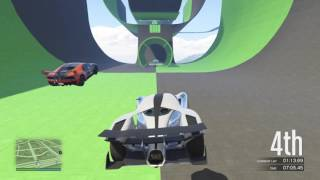 GTA Online Stunt Race Green Machine last lap .