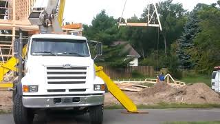 Gambrel Barn Trusses Going Up!