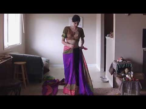 How to Drape Nauwari in Traditional Marathi Style with Double Borders in Back