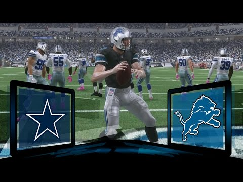 Madden NFL 17 Detroit Lions Franchise- Year 2 Game 6 vs Dallas Cowboys