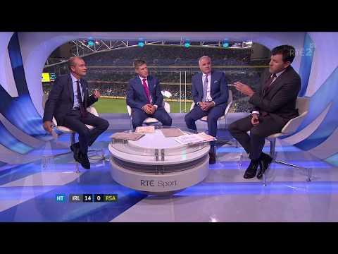 RTÉ studio criticism of Springboks team play (Ireland v South Africa 2017)