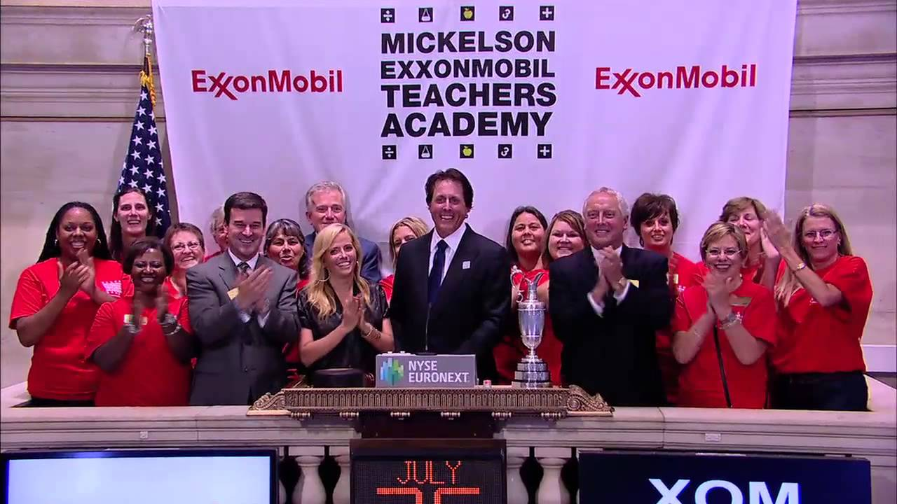 The Mickelson ExxonMobil Teachers Academy Visits the NYSE