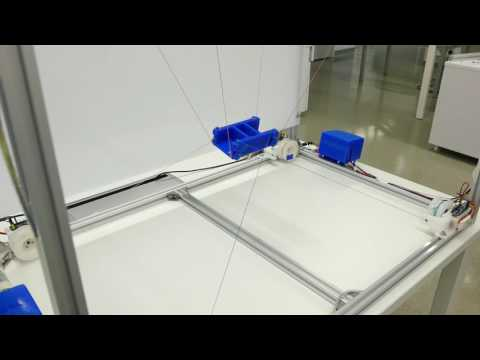 [First Demo] PoCaBot v1: low-cost modular cable-robot units controlled by CASPR cable-robot software