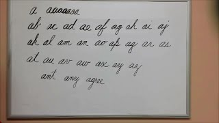 How to Connect Cursive A - American Handwriting