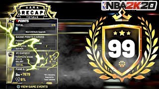 NBA 2K20 - THE FASTEST WAY TO REACH 99 OVERALL (FASTEST WAY TO INCREASE YOUR OVERALL AND REP)