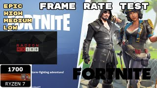 Ryzen 7 1700 RX 480 on Fortnite FPS test - Real Gameplay