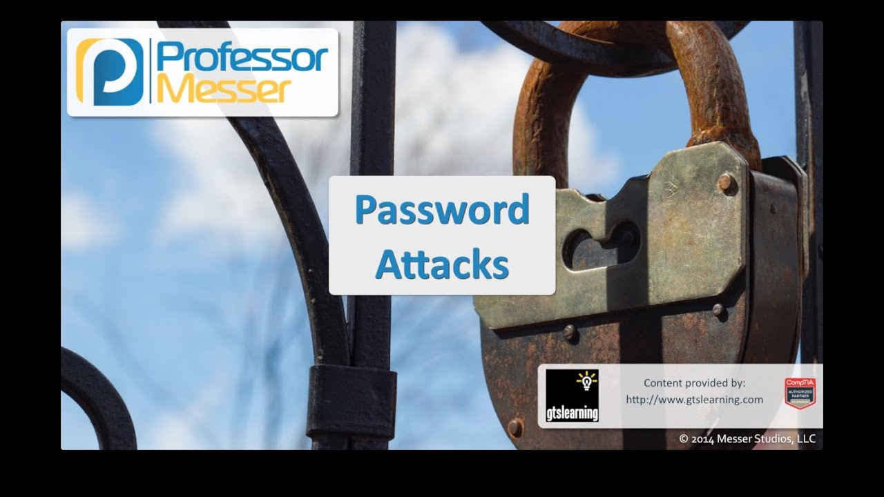 Password Attacks - CompTIA Security+ SY0-401: 3.2
