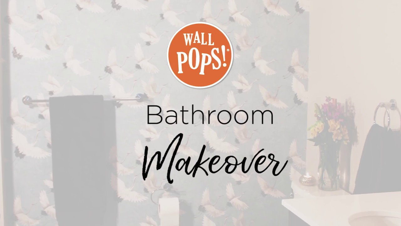 Bathroom Makeover With Peel Stick Wallpaper Youtube