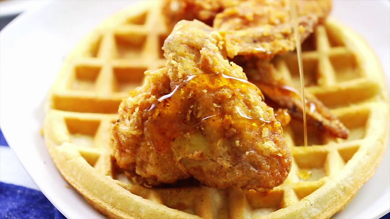 HOMEMADE CHICKEN AND WAFFLES RECIPE - YouTube