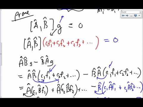 07   17 Operators and Properties   Theorems about commuting operators 14m 48s