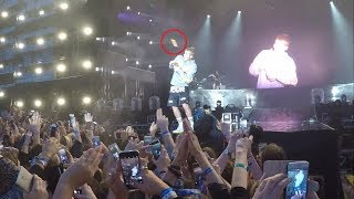 Justin Bieber On why He Is Not Singing Despacito Live (Fan throws a bottle)