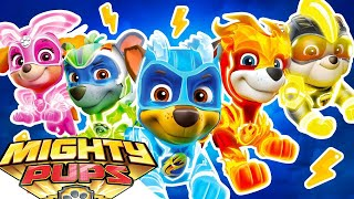PAW Patrol Mighty Pups Save Adventure Bay - Marshall, Rubble Super Heroic Day Mission  - Nick Jr HD