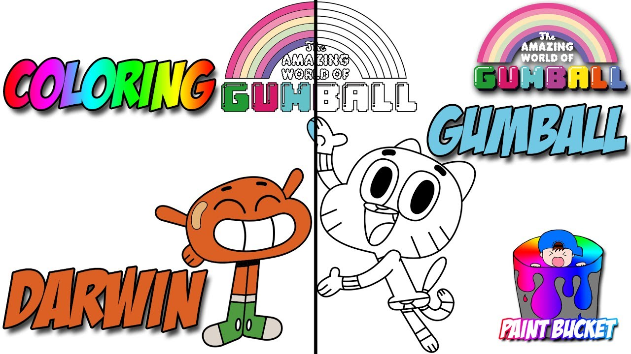 the amazing world of gumball coloring page cartoon network coloring book for kids to learn colours
