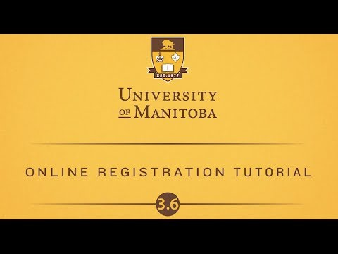 Online registration tutorial 3.6: Changing and Dropping Classes