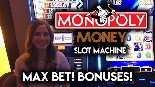 Monopoly MONEY Slot Machine! Spinning the Wheel! Max Bet!