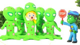 FUNNY KID MEETS THE FRIENDLY MONSTER ❤ Play Doh Cartoons For Kids