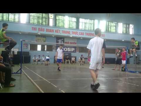 Giải đá cầu Hải Phòng 2015: Chung kết đôi nam nữ Hàng Hải vs Linh Lang