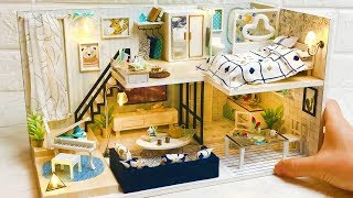 DIY Miniature Dollhouse Kit Modern Loft Style Design