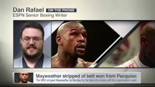wbo strips mayweather of belt won from pacquiao