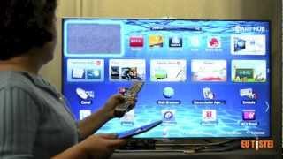 """TV Samsung SmartTV 3D LED UN46ES8000 46"""" - Resenha Brasil"""