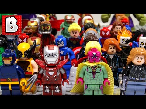 Every LEGO Marvel Superhero Minifigure Ever Made!!!