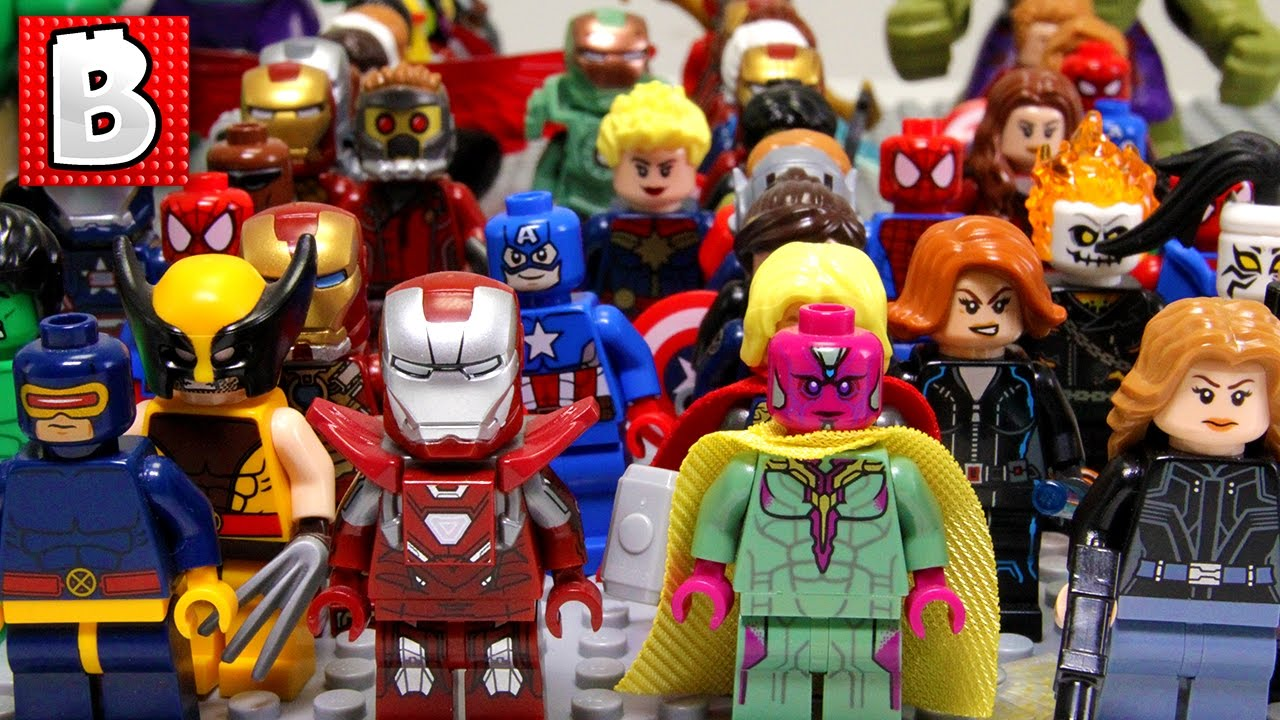 every lego marvel superhero minifigure ever made youtube