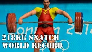 Sis0 @ London Olympics 2012 PC - Weightlifting - Snatch Triple World Record 218kg