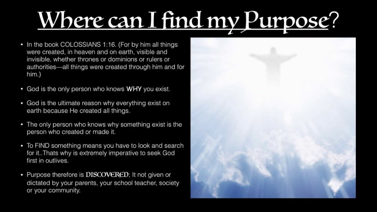 what is my god given purpose