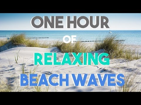 NO ADS || One Hour Relaxing Beach Waves || Soothing Sounds || Ocean Vacation