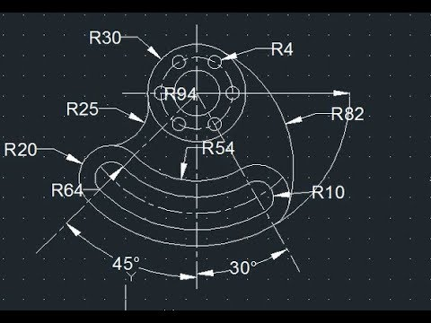 2d autocad practice drawing example 13 youtube