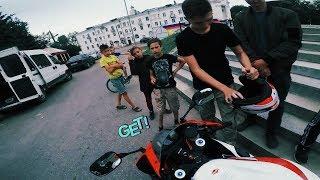 Толпа ребятишек поймала, прокати всех. Замеры Dragy / Honda CBR600RR /