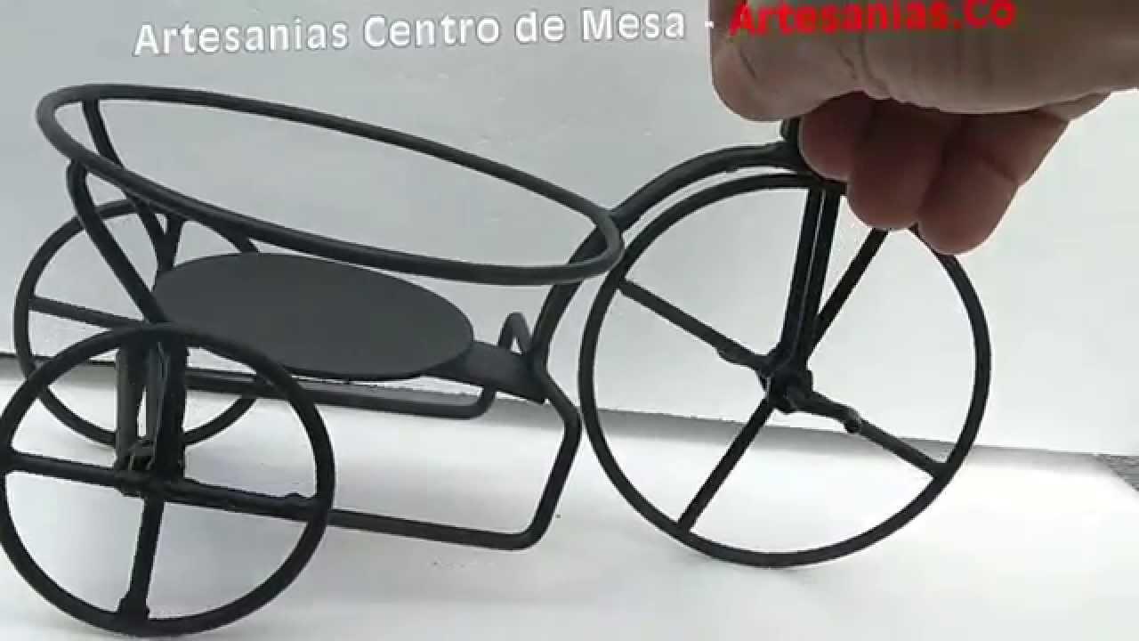 Artesanias en hierro forjado centro de mesa youtube - Mesa de hierro ...