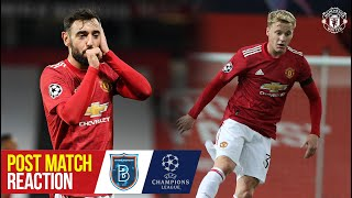 Van de Beek, Fernandes & Solskjaer react to Reds' win over Istanbul Basaksehir | Manchester United